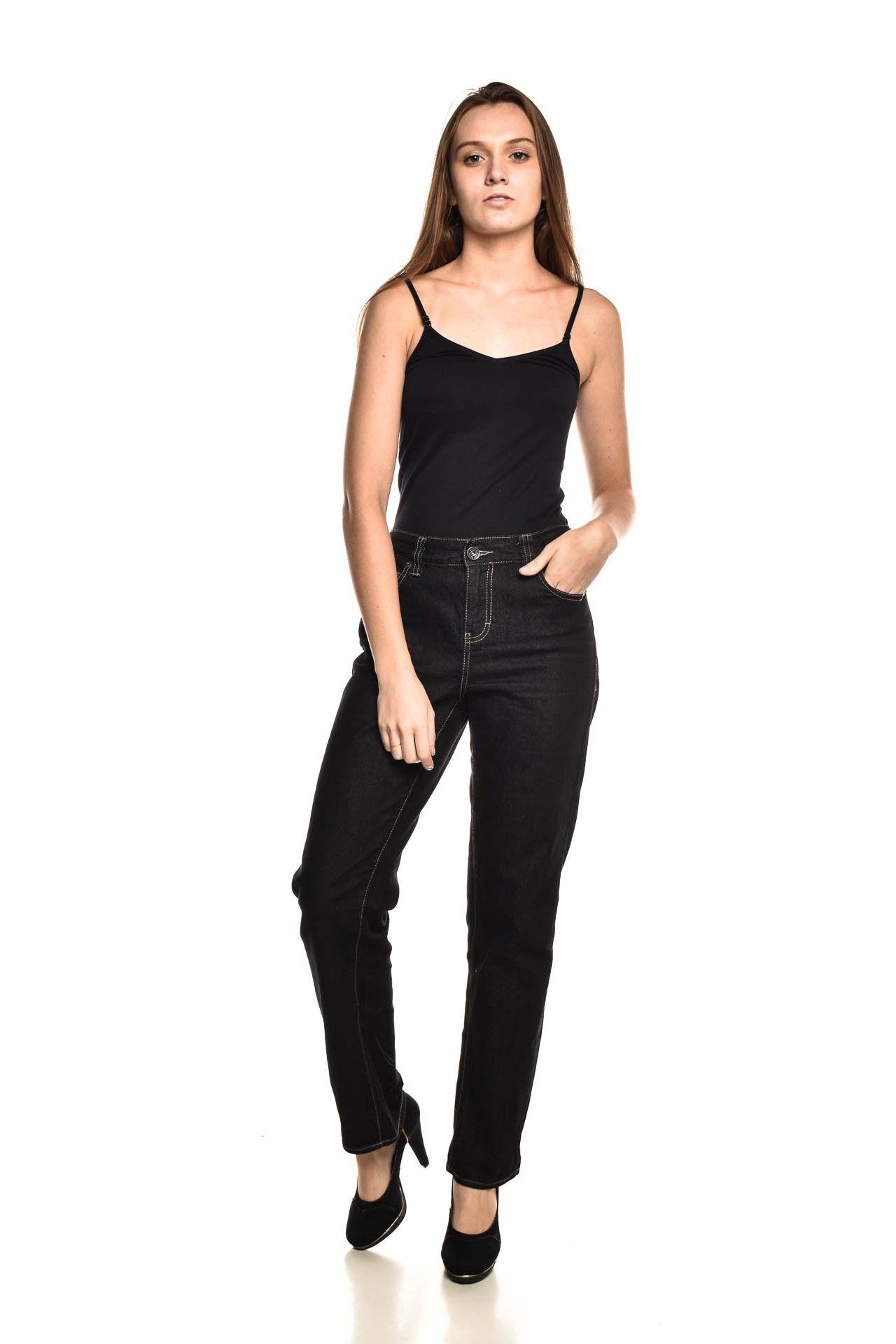 Calvin Klein - Calça Jeans Preta - Foto 2
