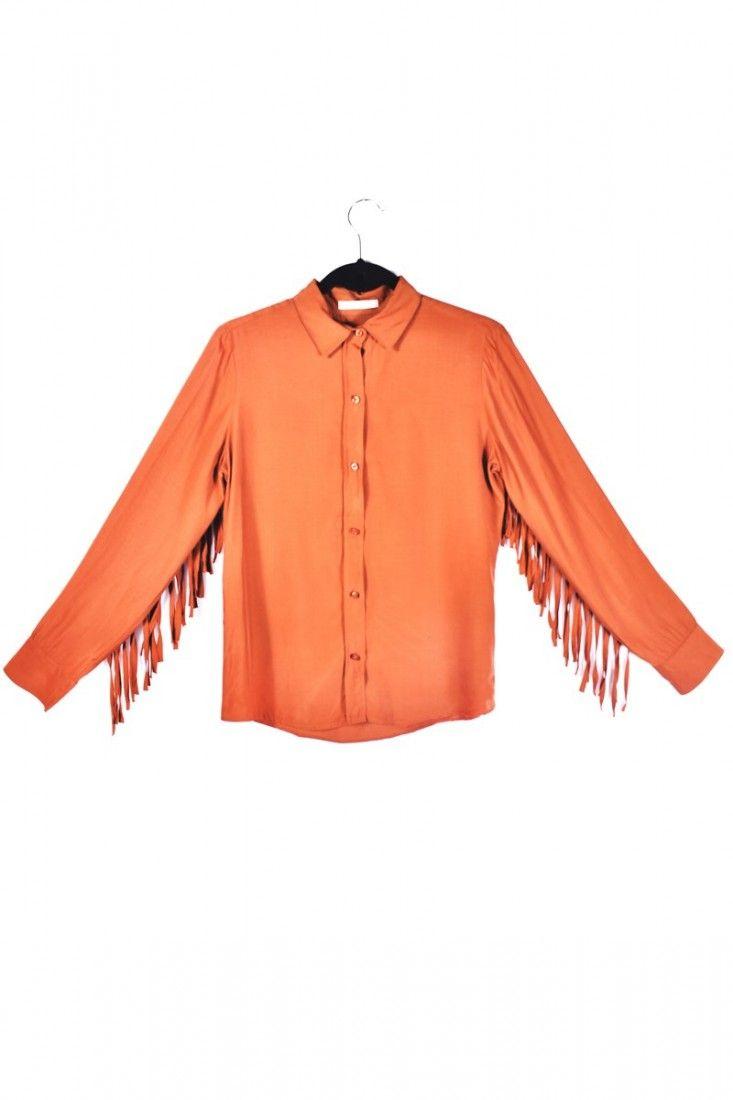 Bobstore - Camisa Franjas Marrom - Foto 1