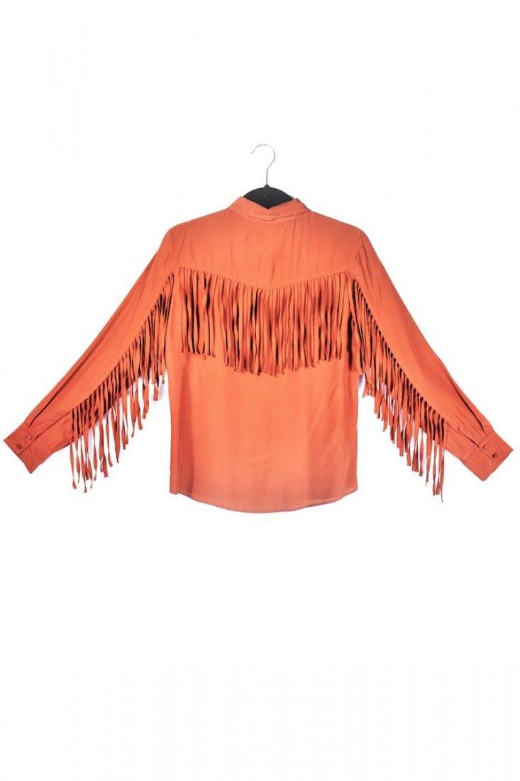 Bobstore - Camisa Franjas Marrom - Foto 2