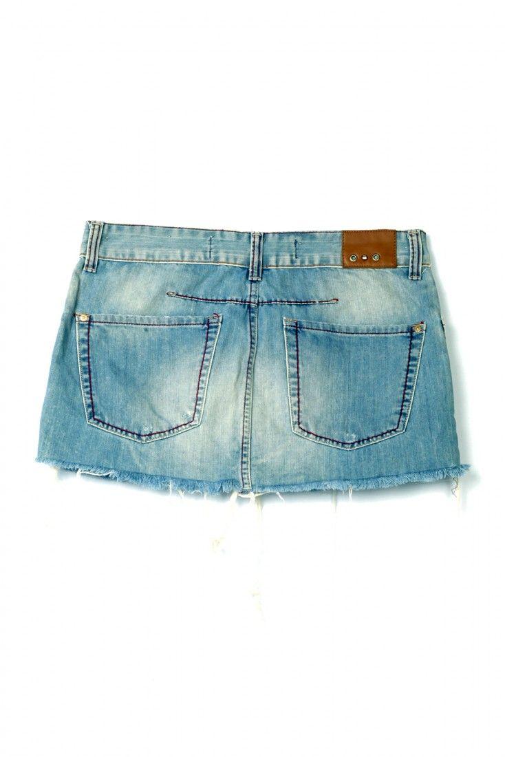 Animale - Saia Jeans Mini - Foto 2