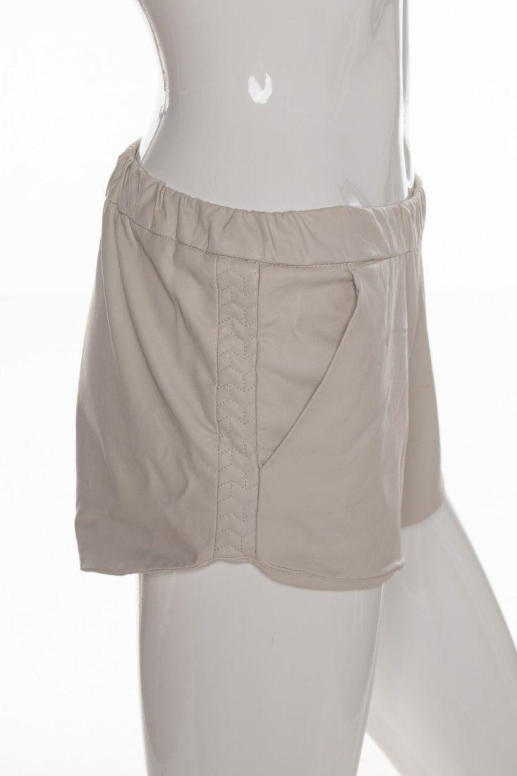 Zara - Shorts Couro Bege - Foto 3