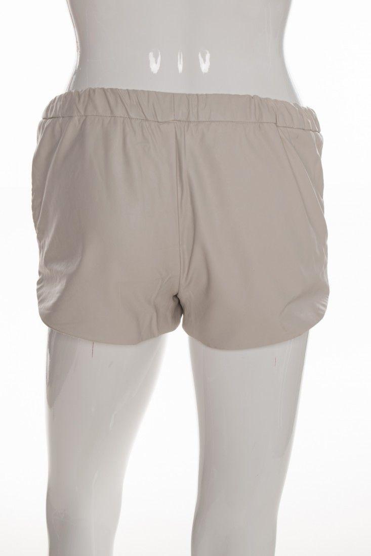 Zara - Shorts Couro Bege - Foto 2