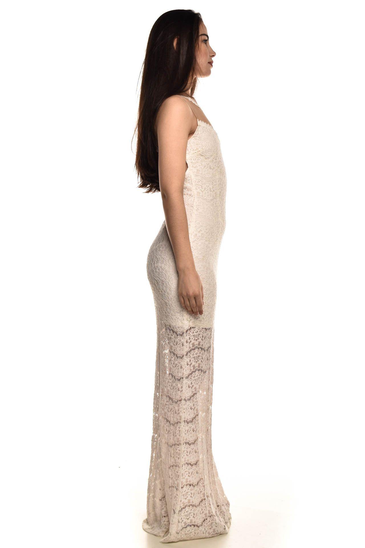 Cheroy - Vestido Longo Off White - Foto 4
