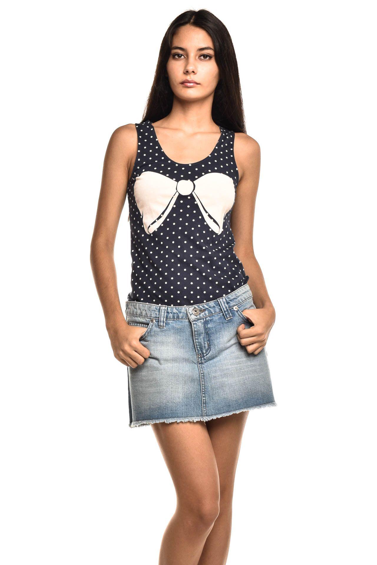 Shop 126 - Saia Jeans Azul - Foto 1