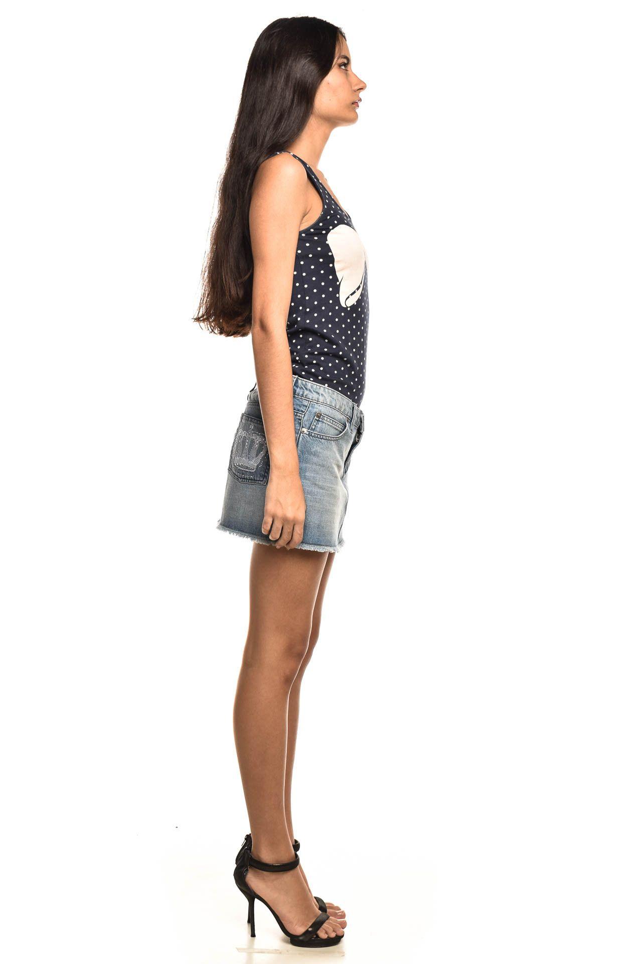 Shop 126 - Saia Jeans Azul - Foto 4