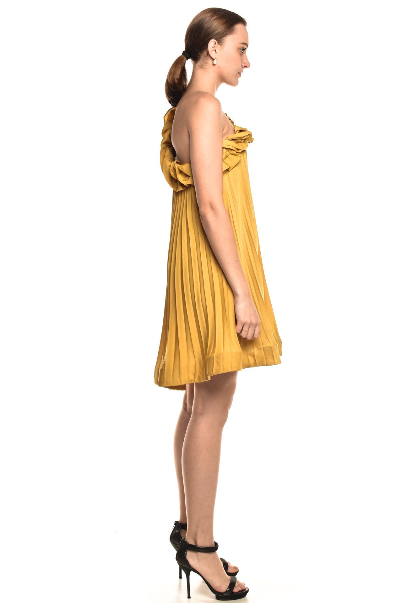Bcbgmaxazria - Vestido Babados Yellow - Foto 4