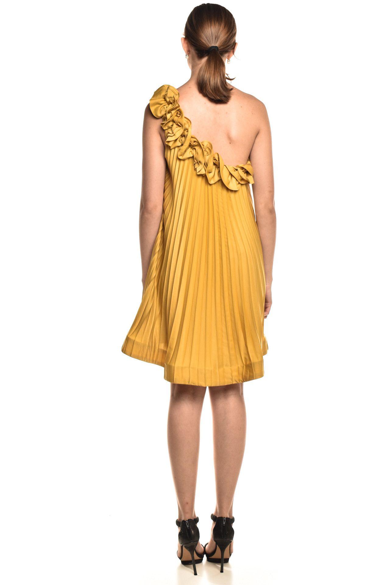 Bcbgmaxazria - Vestido Babados Yellow - Foto 5