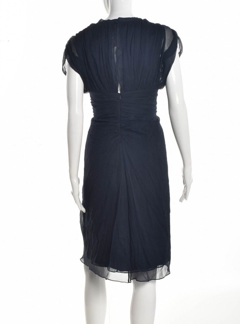 Diane Von Furstenberg - Vestido Tecido Navy - Foto 2