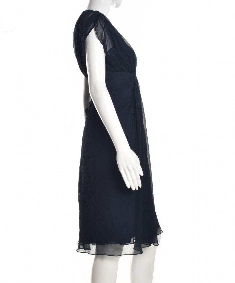 Diane Von Furstenberg - Vestido Tecido Navy - Foto 3