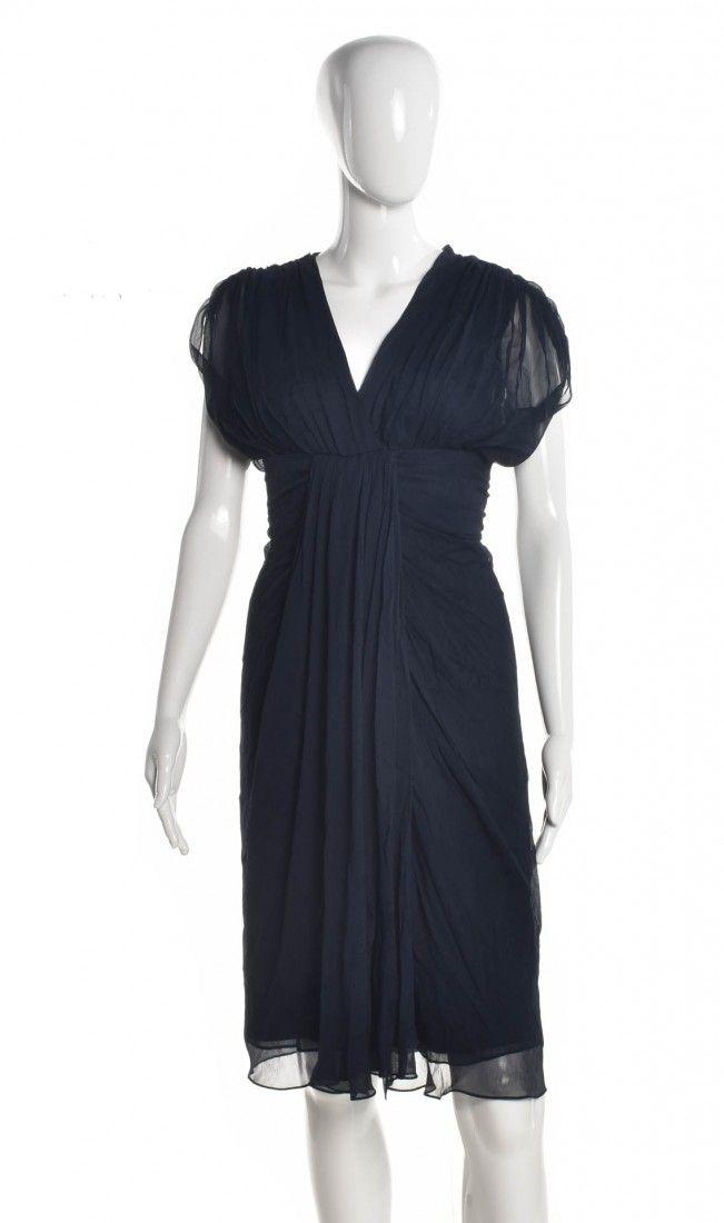Diane Von Furstenberg - Vestido Tecido Navy - Foto 1