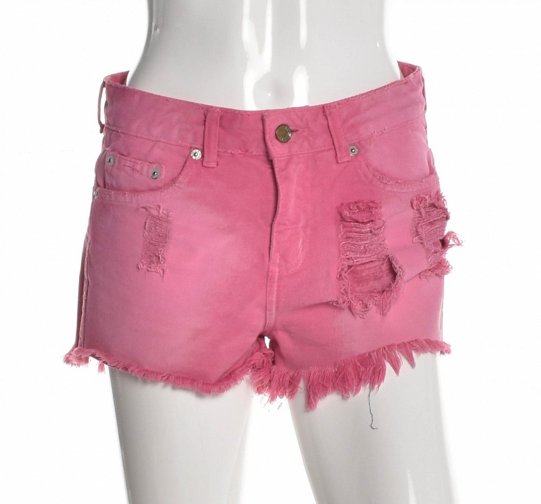 Daslu - Shorts Jeans Rosa - Foto 1