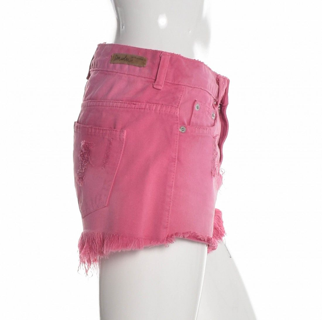 Daslu - Shorts Jeans Rosa - Foto 3