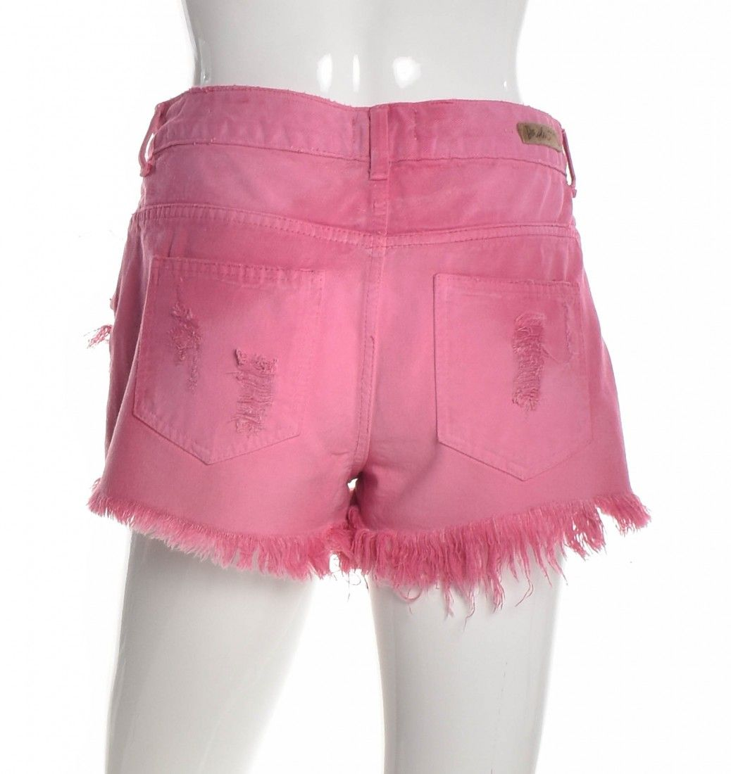 Daslu - Shorts Jeans Rosa - Foto 2