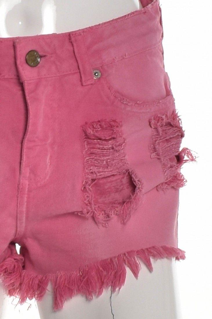 Daslu - Shorts Jeans Rosa - Foto 4