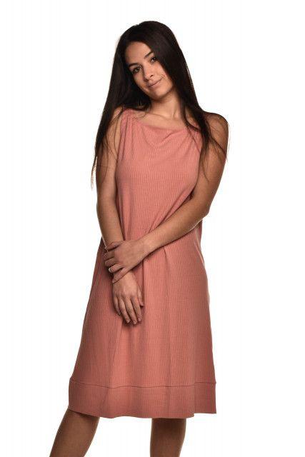 Vestido Canelado Rosa Laas