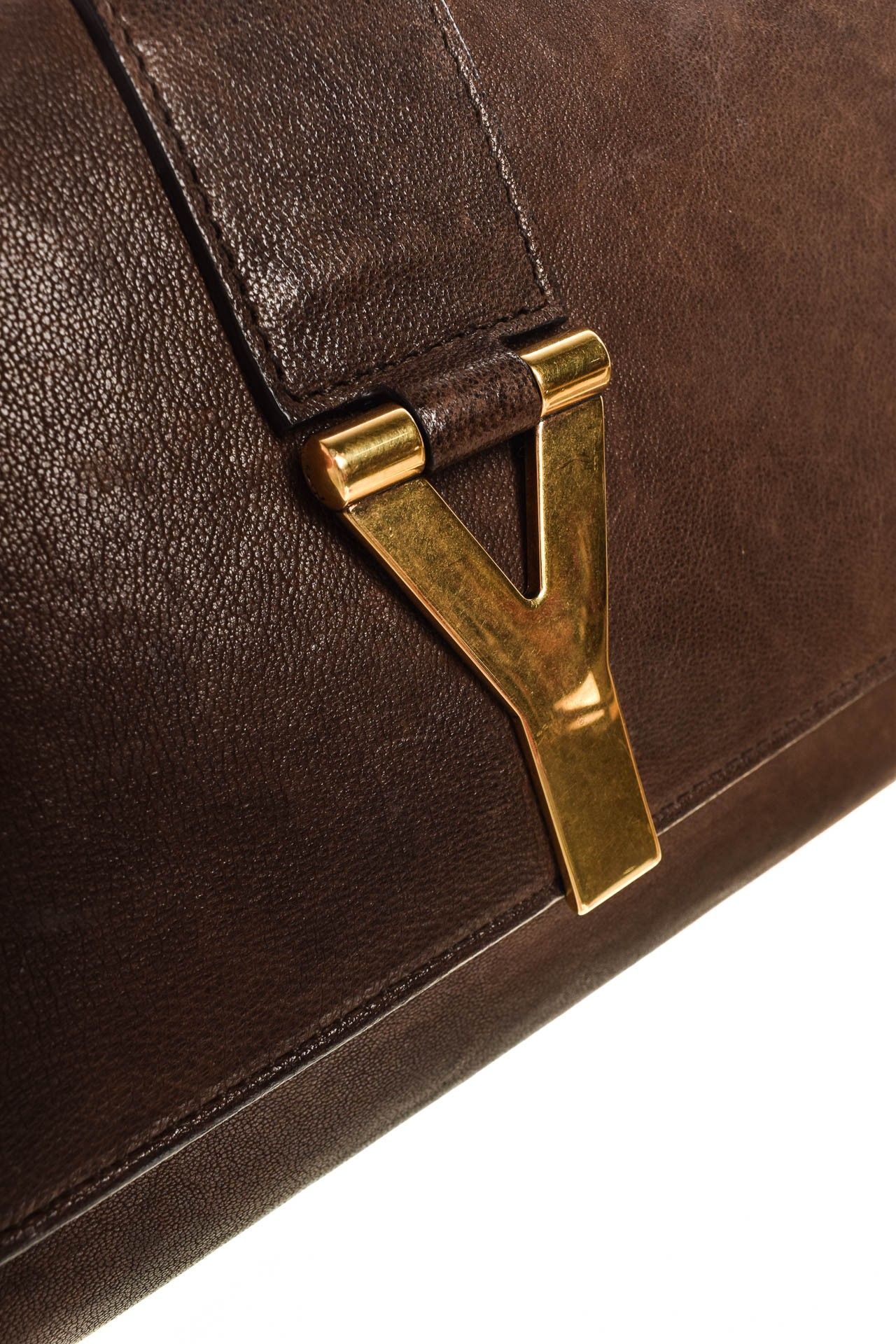 Yves Saint Laurent - Clutch Marrom Logo - Foto 5