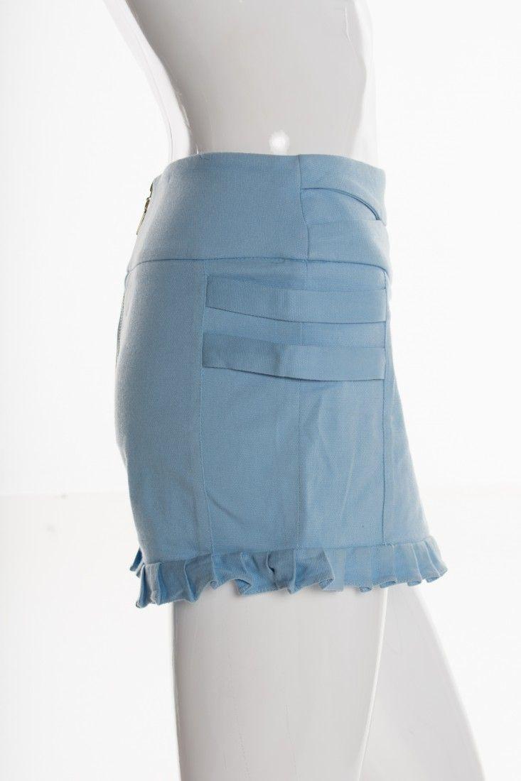 Mixed - Shorts Azul Babados - Foto 3
