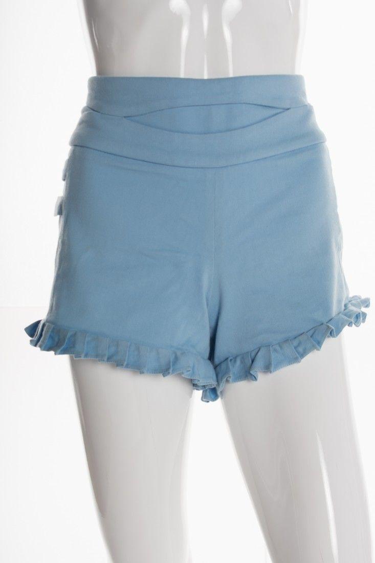 Mixed - Shorts Azul Babados - Foto 1