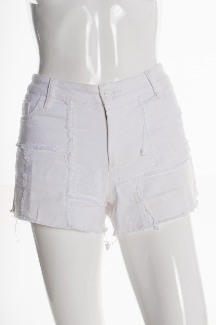 Mixed - Shorts Jeans Branco - Foto 1