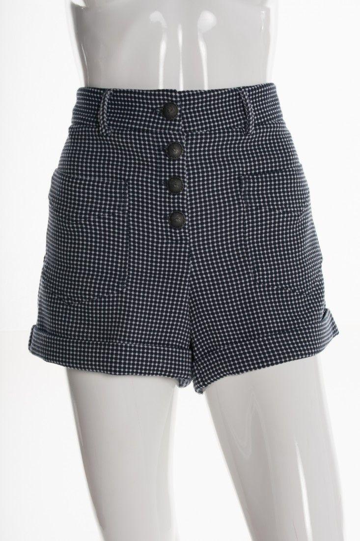 Mixed - Shorts Tweed Azul - Foto 1