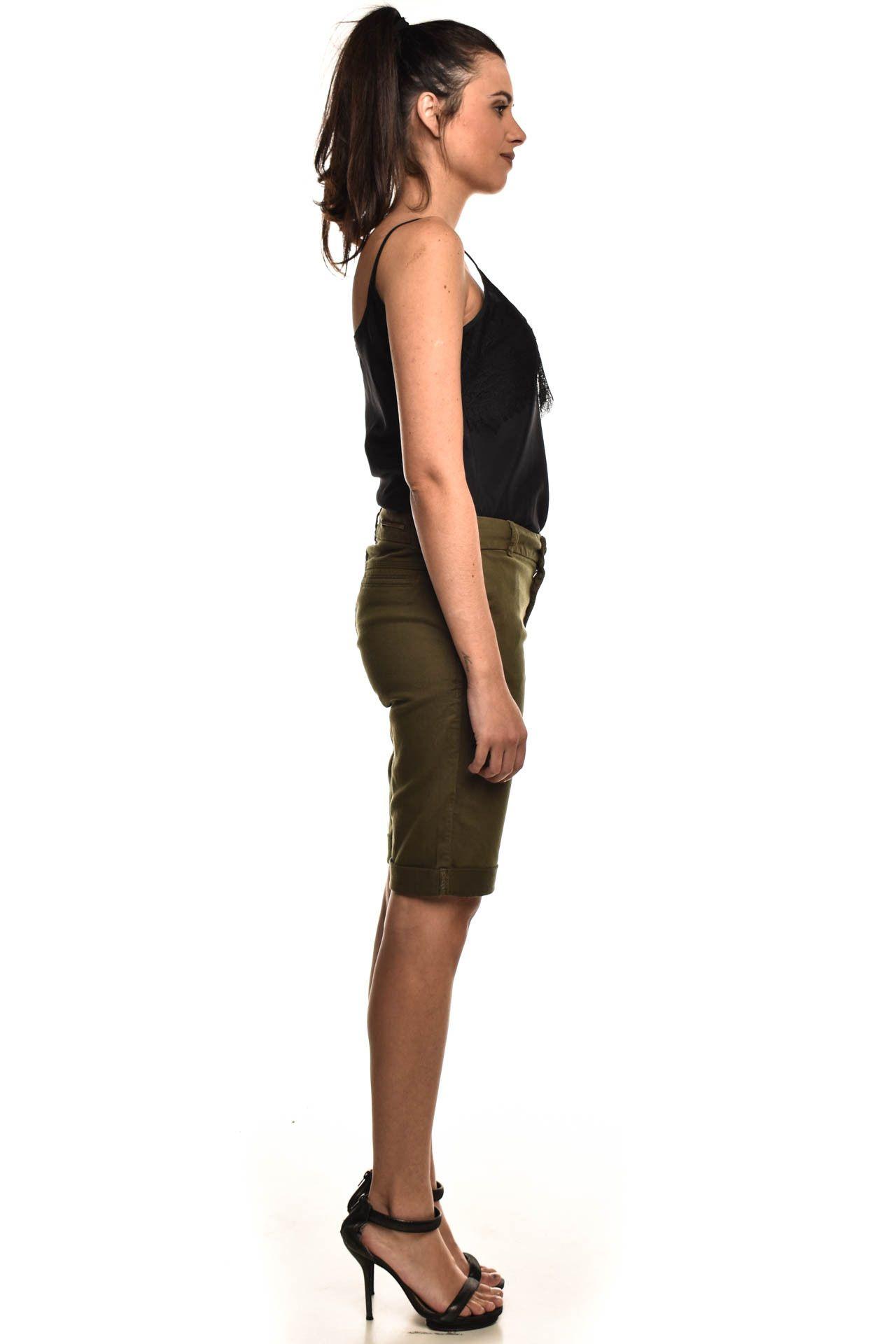 Maria Valentina - Bermuda Verde Militar - Foto 4