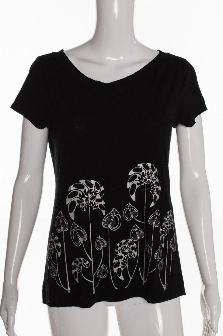 Mob - Camiseta Preta Flores - Foto 1